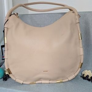 DKNY  Gold Prim Medium Textured Leather Hobo bag